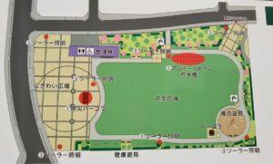 新都心公園案内図